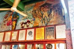 Losu Angeles Bodeguita Del Medio wewnętrznej ściany szczegół Obrazy Stock