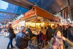 Losu Angeles Boqueria rynek, Barcelona, Hiszpania. Obraz Stock