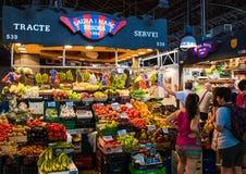 Losu Angeles Boqueria rynek w Barcelona, Hiszpania Obrazy Royalty Free