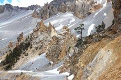 Losu Angeles Casse déserte, część Queyras Naturalny park w Francja Fotografia Stock