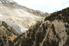 Losu Angeles Casse déserte, skalisty krajobraz w francuza Queyras Naturalnym parku zdjęcia stock