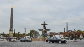 Losu Angeles Concorde kwadrat Paryż, Francja fotografia stock