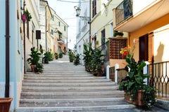 Losu Angeles costarella ulica w Numana mieście fotografia stock