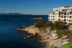 Losu Angeles Creu zatoczka. L'Escala. Costa Brava, Hiszpania. Fotografia Stock