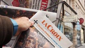 Losu Angeles Croix gazeta o wyborach w Niemcy zdjęcie wideo