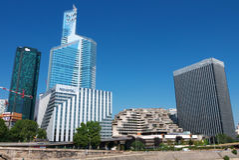 Losu Angeles Défense budynki Nanterre Francja Obraz Stock