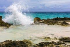 Losu Angeles Douche plaża na drodze losu angeles Pointe Des Chateaux obrazy stock