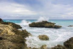 Losu Angeles Douche plaża na drodze losu angeles Pointe Des Chateaux obrazy royalty free