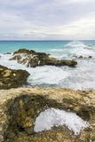 Losu Angeles Douche plaża na drodze losu angeles Pointe Des Chateaux obraz stock
