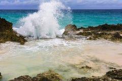 Losu Angeles Douche plaża na drodze losu angeles Pointe Des Chateaux zdjęcia royalty free