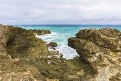 Losu Angeles Douche plaża na drodze losu angeles Pointe Des Chateaux zdjęcie royalty free