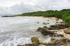 Losu Angeles Douche plaża na drodze losu angeles Pointe Des Chateaux fotografia royalty free