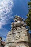 Losu Angeles fontaine des Licornes w Montpellier, Francja Fotografia Stock