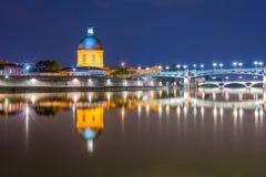 Losu Angeles Garonne omijanie przez Tuluza, Francja obraz royalty free