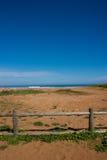 Losu Angeles Griega plaża z ogrodzeniem w przodzie Obrazy Stock