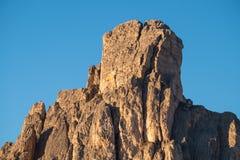 Losu Angeles Gusela góra, Passo Giau, dolomity Zdjęcie Stock