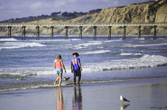 Losu Angeles Jolla brzeg plaża Obraz Stock