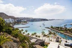 Losu Angeles Lajilla plaża przy arguineguÃn w Granie Canaria, Hiszpania Obraz Stock