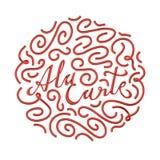 Losu Angeles menu wycena Typographical z ornamentem 3D odpłaca się 3D ilustrację Fotografia Stock
