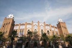 Losu Angeles Monumentalny bullring, Barcelona, Hiszpania, Wrzesień 2016 Obraz Stock