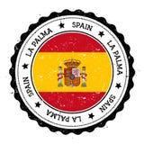 Losu Angeles Palmy flaga odznaka Obraz Royalty Free