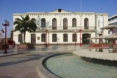 Losu Angeles Paz staci kolejowej powierzchowność w Arica, Chile Obrazy Stock