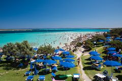 Losu Angeles Pelosa plaża na wyspie Sardinia zdjęcie royalty free