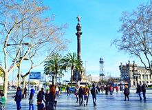 Losu Angeles Rambla uliczny widok Barcelona Fotografia Stock