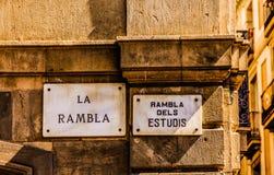 Losu Angeles Rambla znak uliczny Zdjęcia Royalty Free