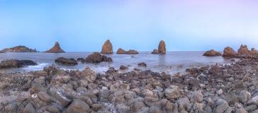 Losu Angeles Riviera dei Ciclopi, Sicily, Włochy Zdjęcie Stock