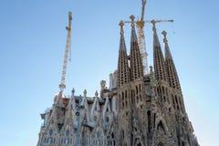 Losu Angeles Sagrada Familia en Barcelona jest jeden ikonowy buildi Fotografia Stock