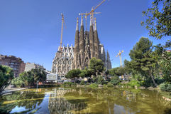 Losu Angeles Sagrada Familia katedra, Barcelona Obrazy Royalty Free
