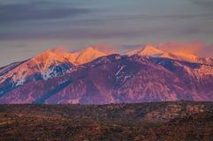 Losu Angeles Sal góry przy zmierzchem Zdjęcie Royalty Free