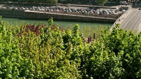 Losu Angeles Saone rzeka w Francja, letni dzień zbiory