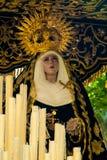 Losu Angeles Semana Santa korowód w Hiszpania, Andalucia Zdjęcie Stock