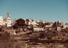 Losu Angeles Senia linia horyzontu, Hiszpania obrazy stock