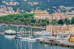 Losu Angeles Spezia Morin i port zdjęcie stock