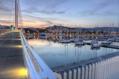 Losu Angeles Spezia port, Cinque Terre, Włochy fotografia stock