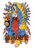 Losu Angeles suerte royalty ilustracja