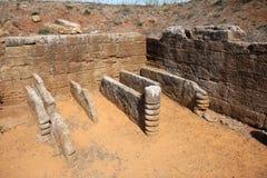 Losu Angeles tomba dei letti funebri w Populonia, Włochy Zdjęcie Royalty Free
