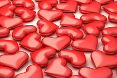 A lot of 3d perfect hearts Stock Photo
