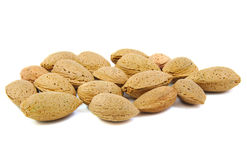 Lot of almonds Royalty Free Stock Photos