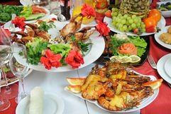 It is a lot of appetizing food. Royalty Free Stock Photo
