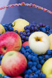 A lot of apples and grapes Stock Image