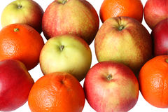 A lot of apples and oranges Royalty Free Stock Photos
