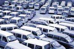 Lot Autos lizenzfreie stockfotos
