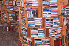 Lot Bücher lizenzfreie stockfotos