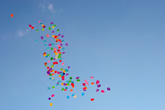 A lot of balloons in the sky Royalty Free Stock Image