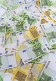 A lot of banknotes euro Royalty Free Stock Photos
