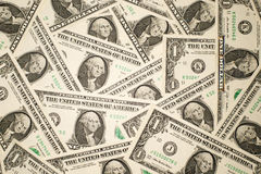 A lot of banknotes one US dollar Royalty Free Stock Image